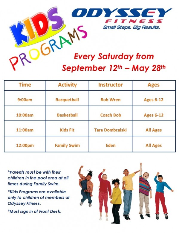 The Saturday Kids Program Runs Every And Is FREE Of Charge To MEMBERS ONLY